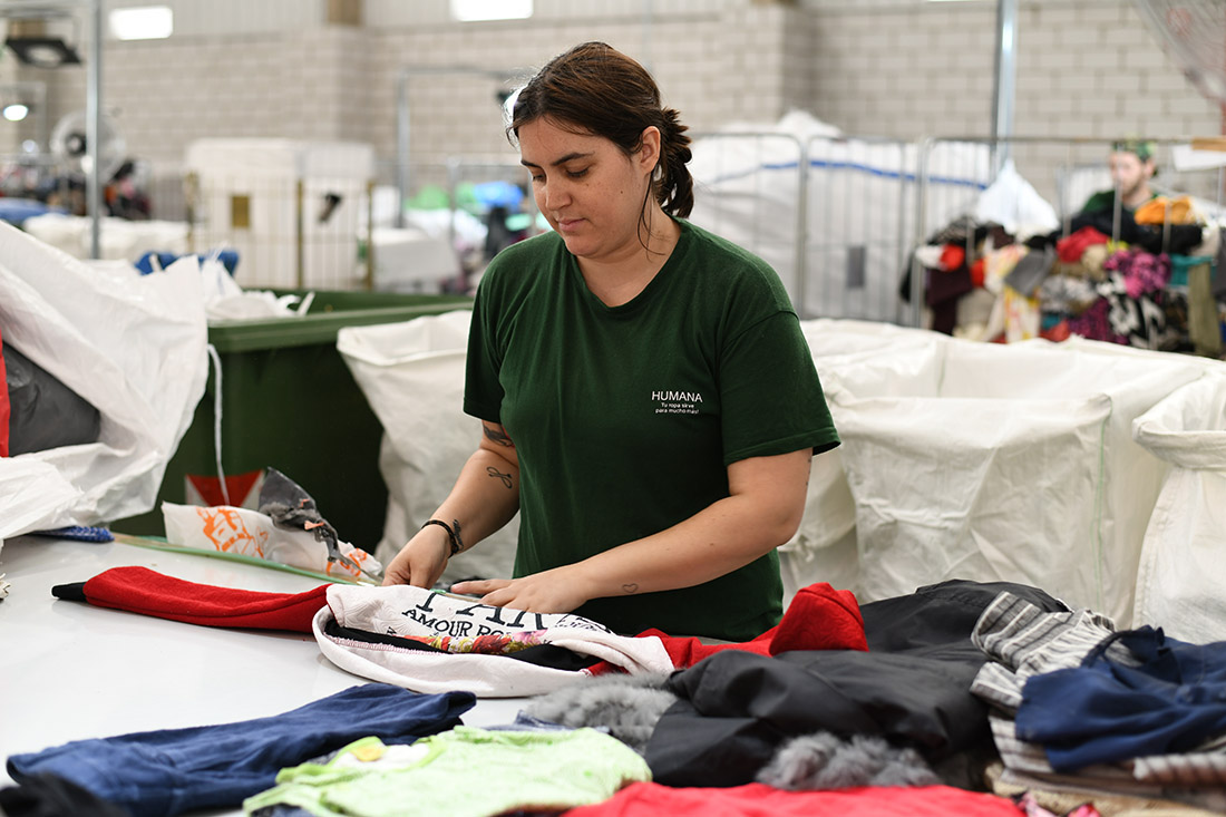 Humana Fundación Pueblo para Pueblo ha recuperat 3.457 Kg de tèxtil usat a la Bisbal durant el primer semestre del 2018