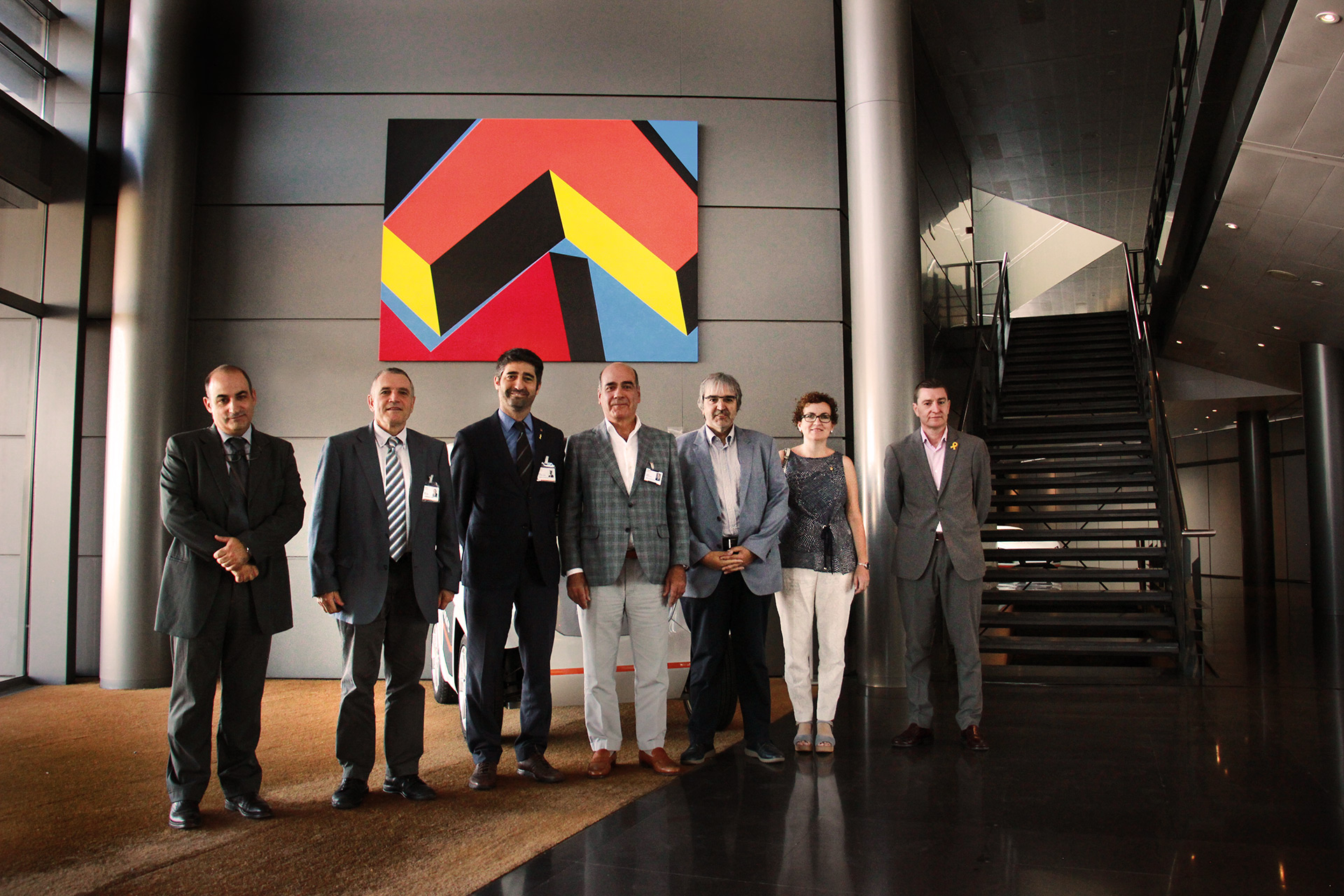 El Conseller de Polítiques Digitals i Administració ha visitat Idiada acompanyat pels alcaldes de la Mancomunitat de l'Albornar