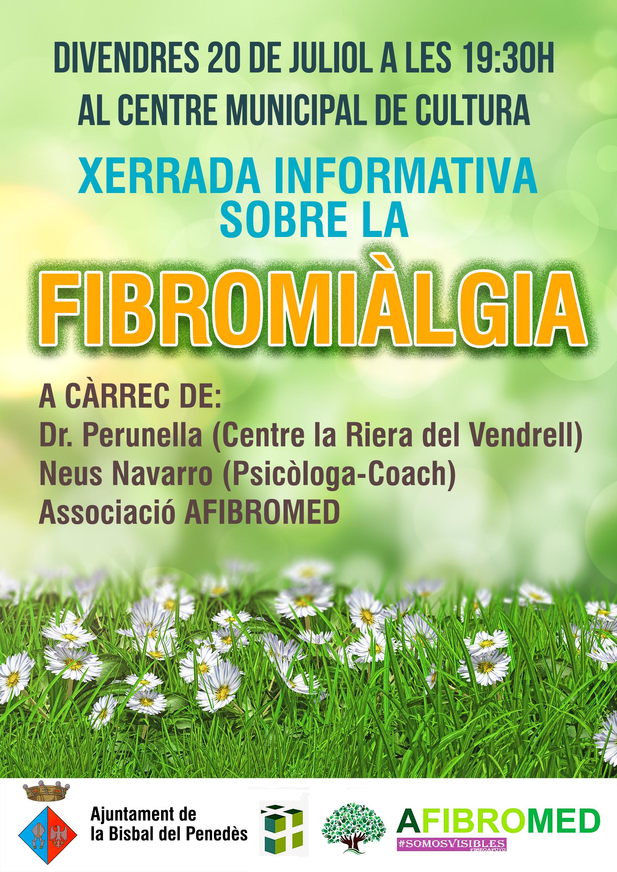 Aquest divendres 20 de juliol a les 19.30h el CMC acollirà una xerrada informativa sobre la fibromiàlgia