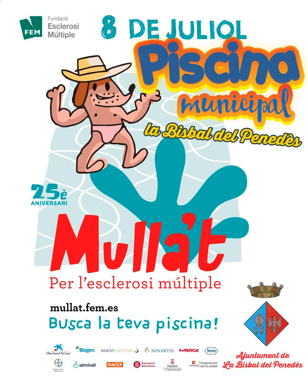 El diumenge 8 de juliol Mulla't per l'esclerosi múltiple a la Piscina Municipal