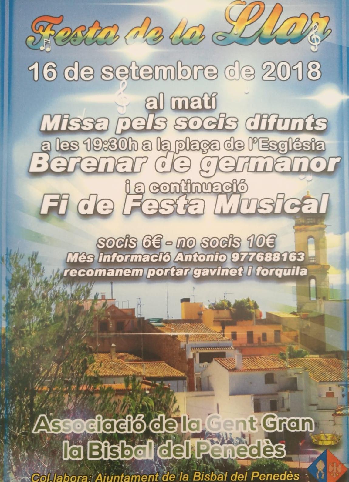 L'Associació de la Gent Gran celebra la seva festa anual el diumenge 16 de setembre