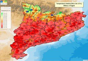 mapa calor 6 agost 2018