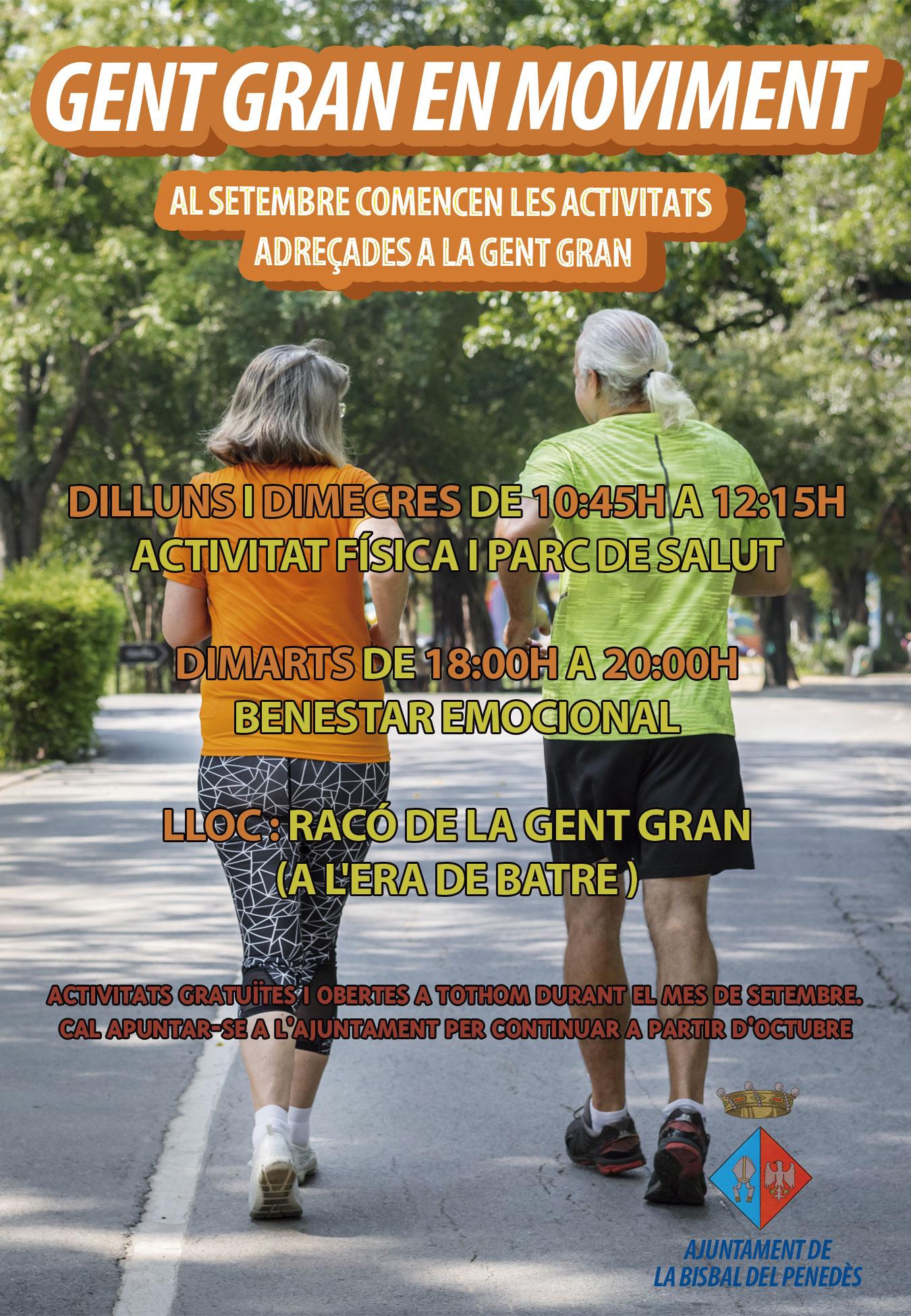Gent Gran en Moviment: al setembre comencen diverses activitats adreçades a la gent gran