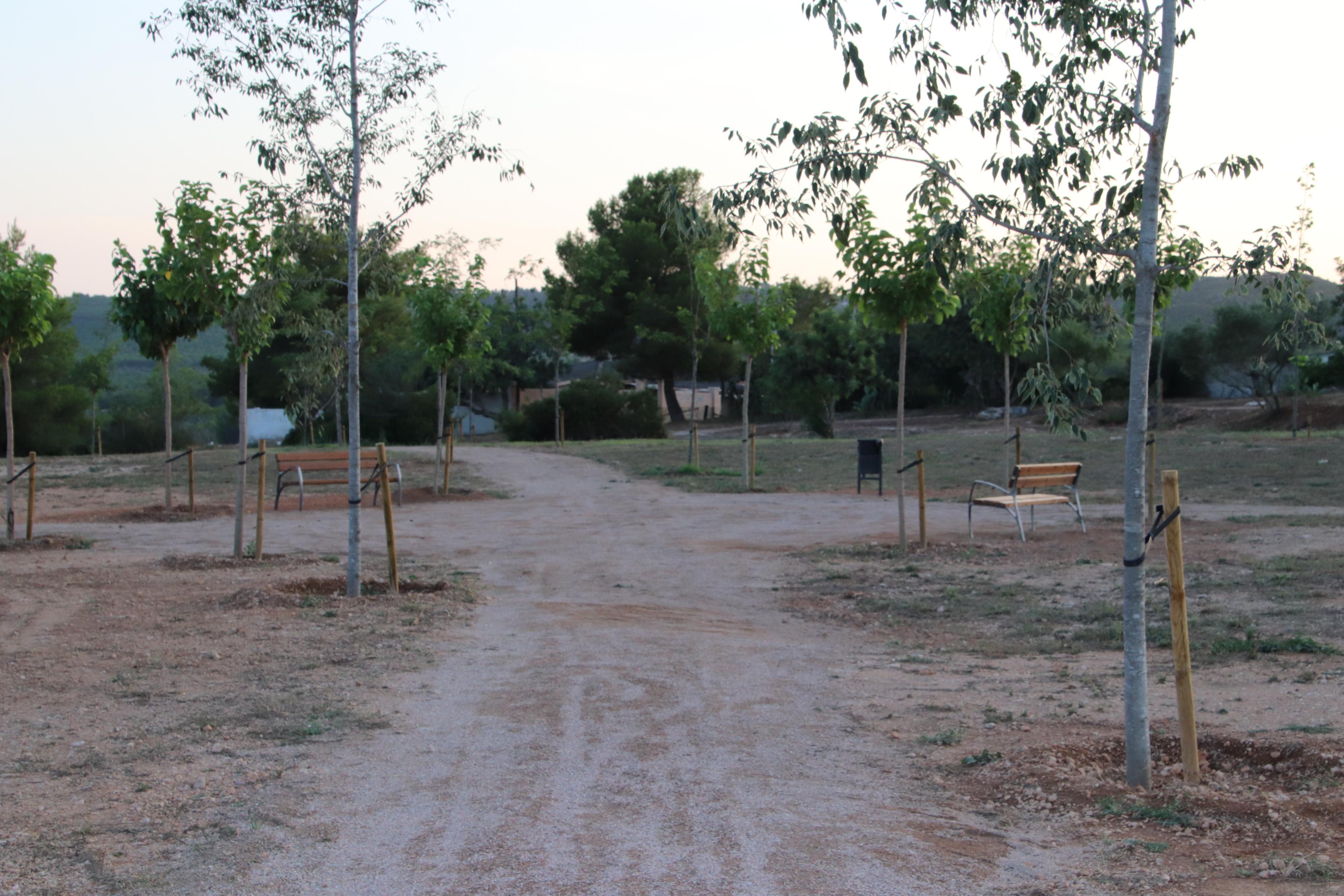 El parc d'esbarjo del Priorat segueix prenent forma