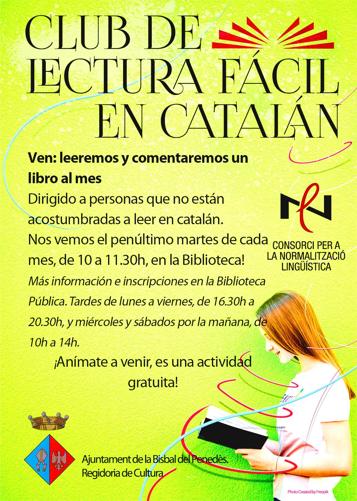 ¿Te gustaría leer mejor en catalán? ¡Hemos pensado un club de lectura para ti!