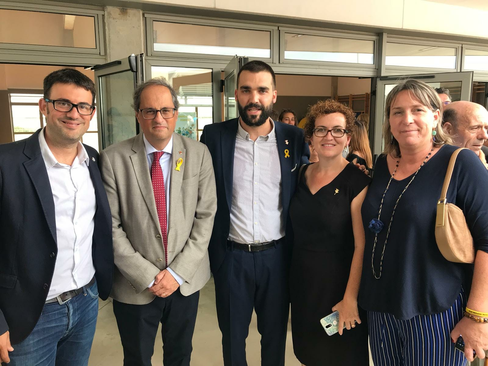 L'alcaldessa de la Bisbal del Penedès i la primera tinent d'alcaldia han assistit aquest dissabte 15 de setembre a la inauguració de l'Ajuntament de Llorenç del Penedès
