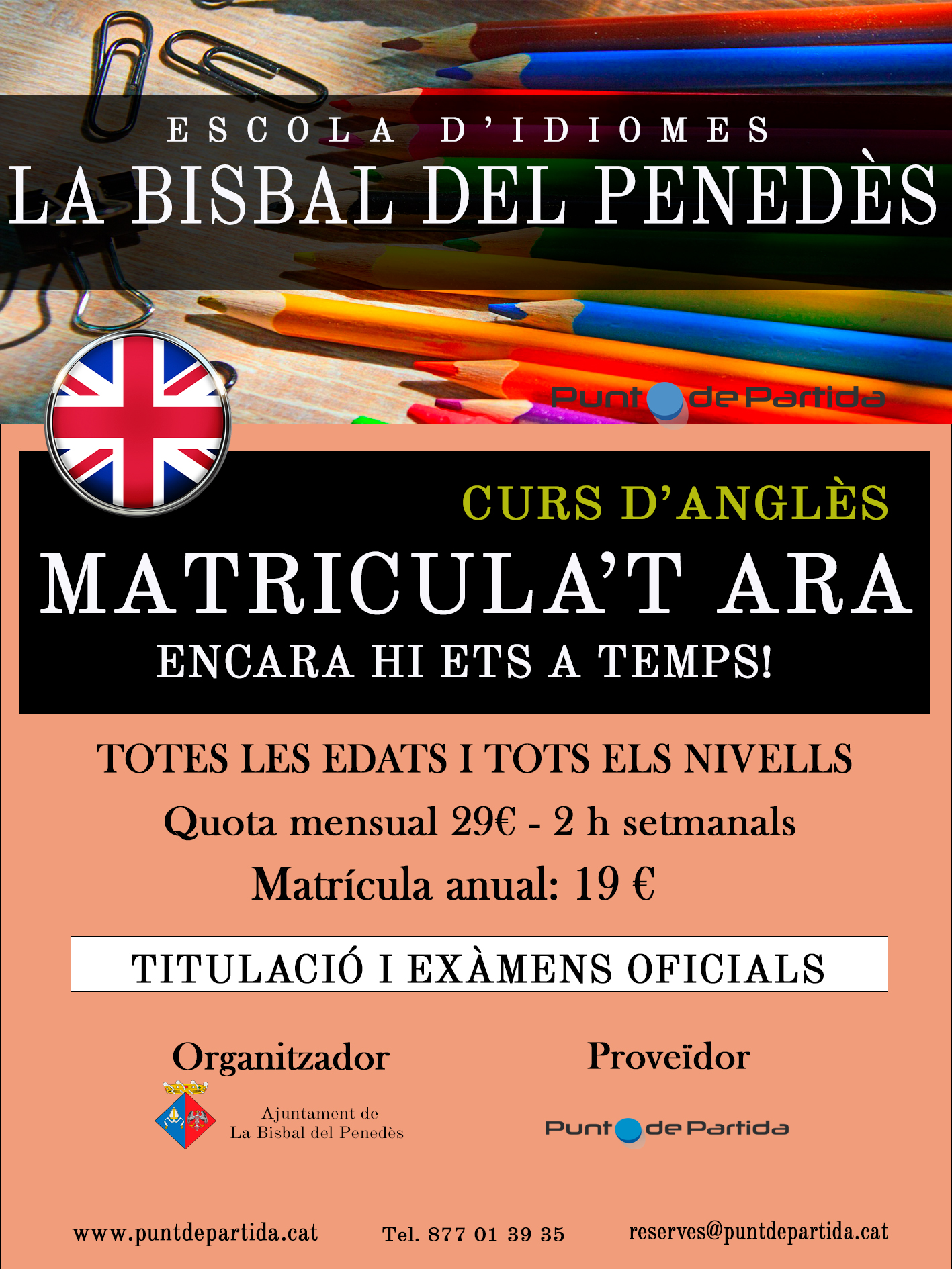 Vols aprendre anglès? Apunta't a l'Escola d'Idiomes de la Bisbal!