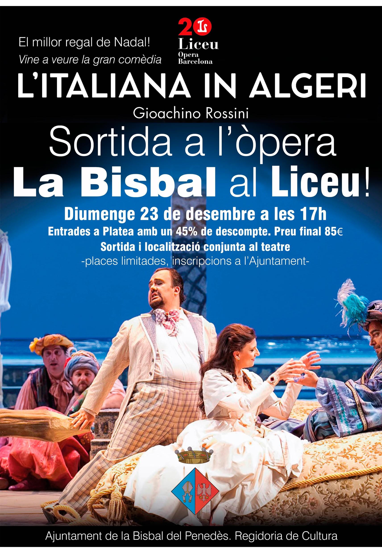Ja podeu reservar la vostra entrada per anar al Liceu a veure l'òpera 'L'italiana in alegri' el 23 de desembre