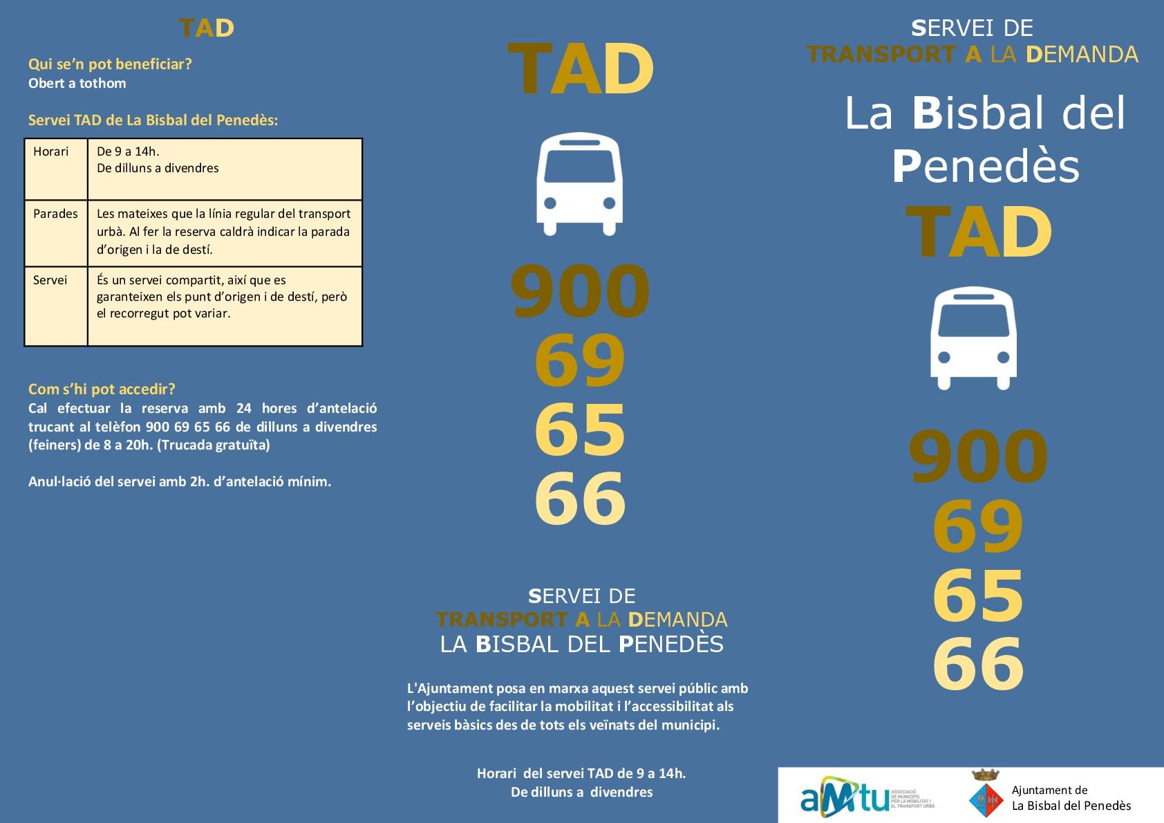 L'Ajuntament de la Bisbal del Penedès continua apostant per un sistema de bus urbà que permet triar entre bus amb horaris fixos i bus a demanda