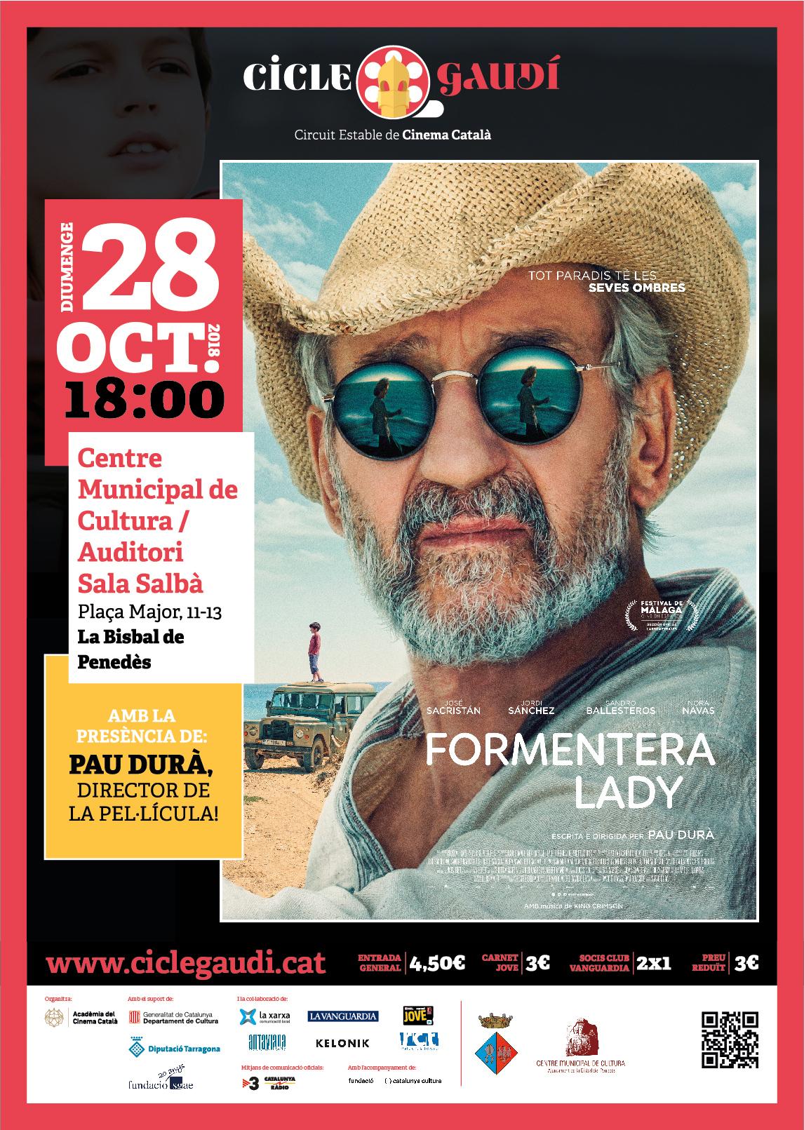 El diumenge 28 d'octubre a les 18h podreu veure 'Formentera lady' al CMC en el marc del Cicle Gaudí