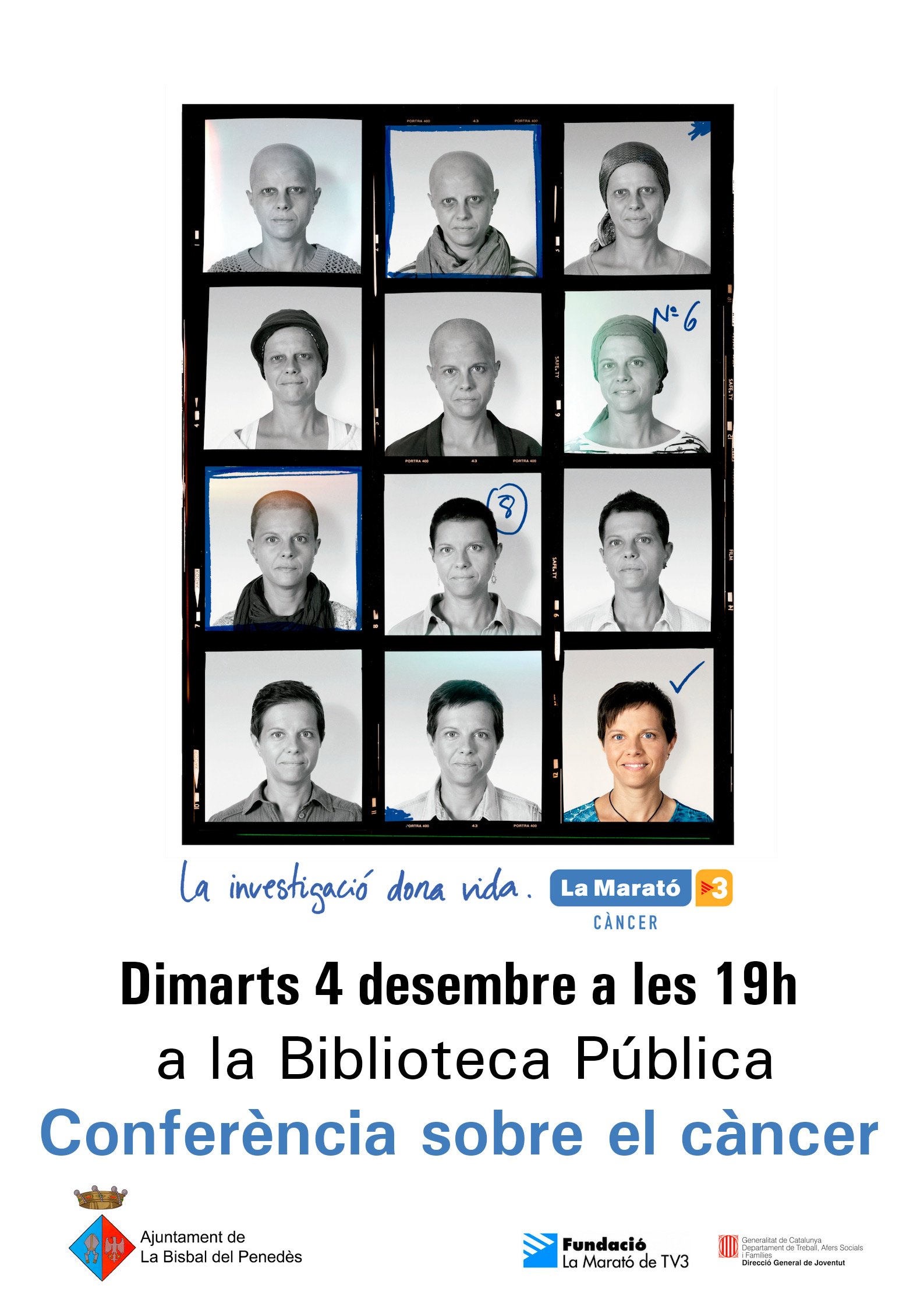 El dimarts 4 de desembre es farà una conferència sobre el càncer a la Biblioteca
