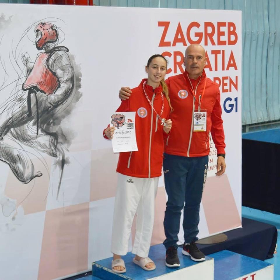 La taekwondista Gloria Ruiz ha aconseguit la medalla de bronze a l'Open Internacional de Croàcia