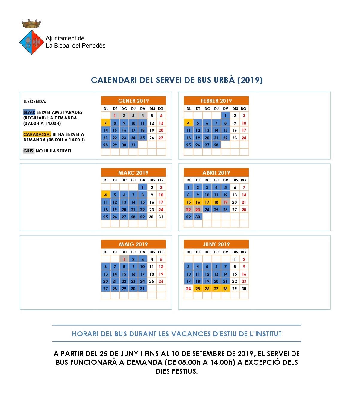 CALENDARI BUS GENER 2019-001