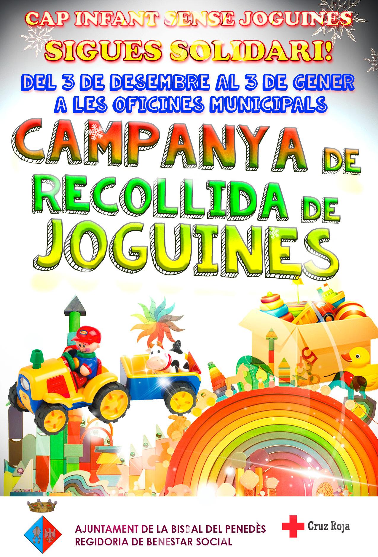 Fins al 3 de gener pots participar en la campanya de recollida de joguines de l'Ajuntament