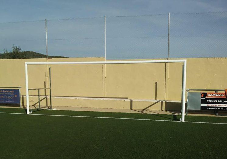 La Regidoria d'Esports ha instal·lat quatre porteries als camps de futbol 7