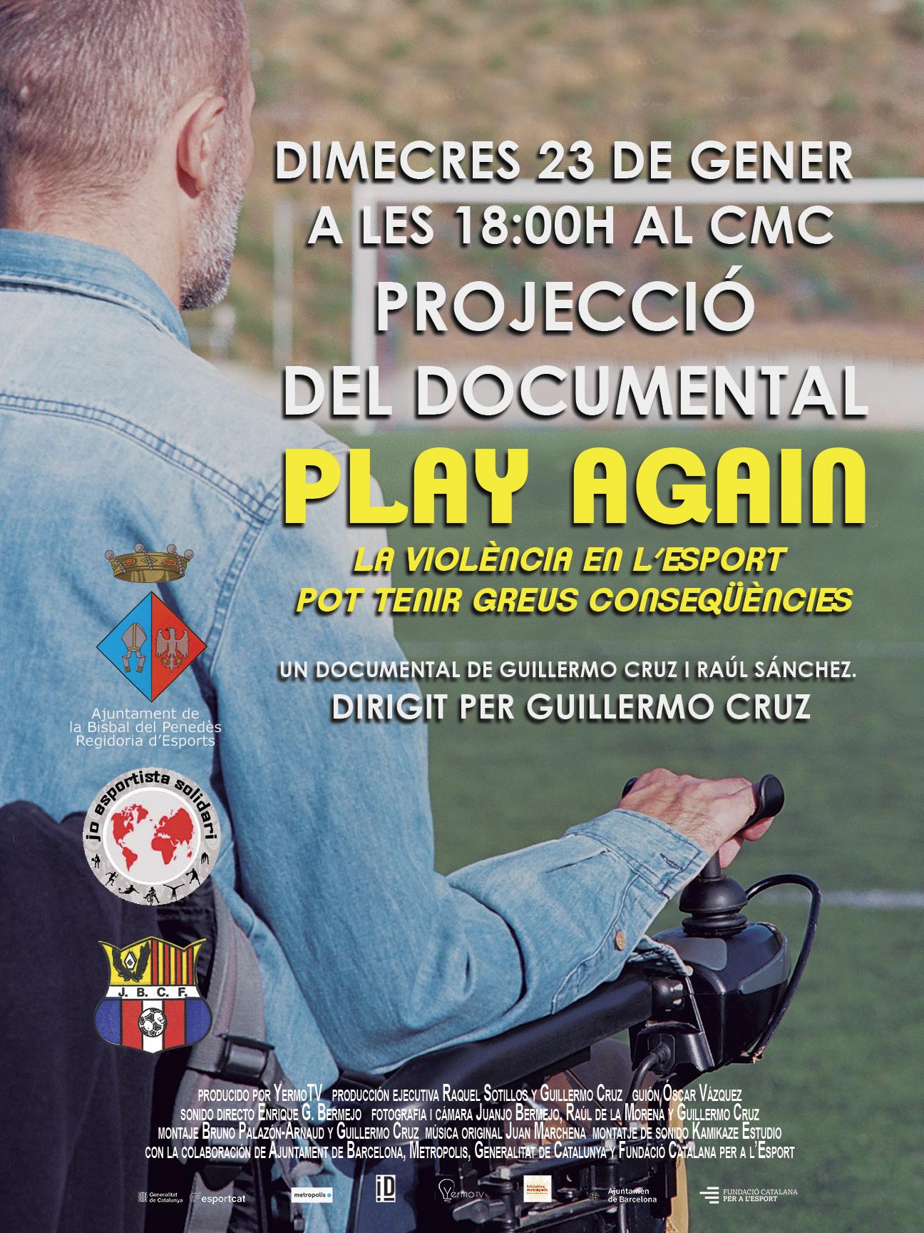 El CMC acollirà la projecció del documental '26 de abril, Play Again' el proper dimecres 23 de gener a les 18h