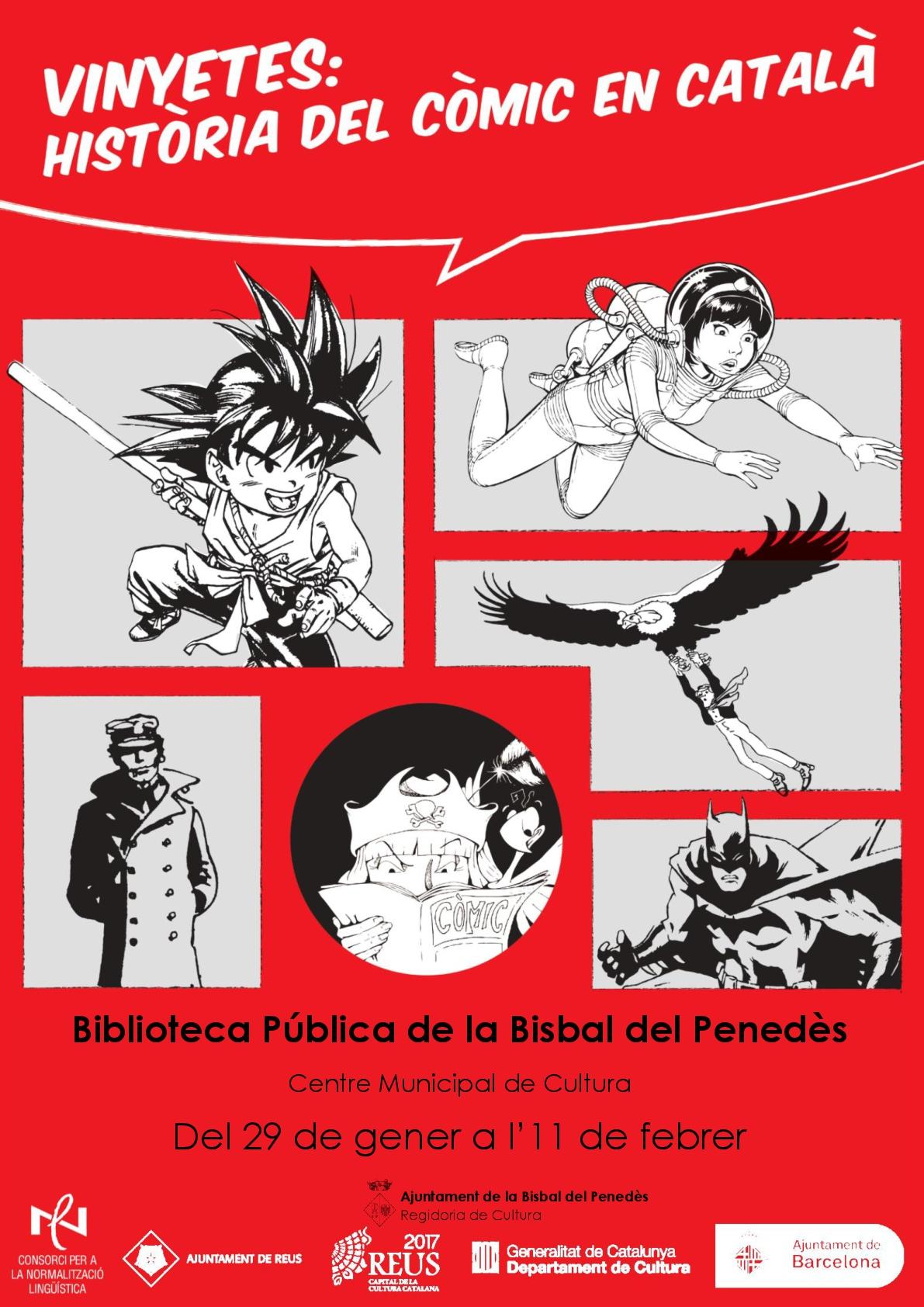 La Biblioteca pública de la Bisbal acollirà una exposició sobre el còmic a partir del dimarts 29 de gener