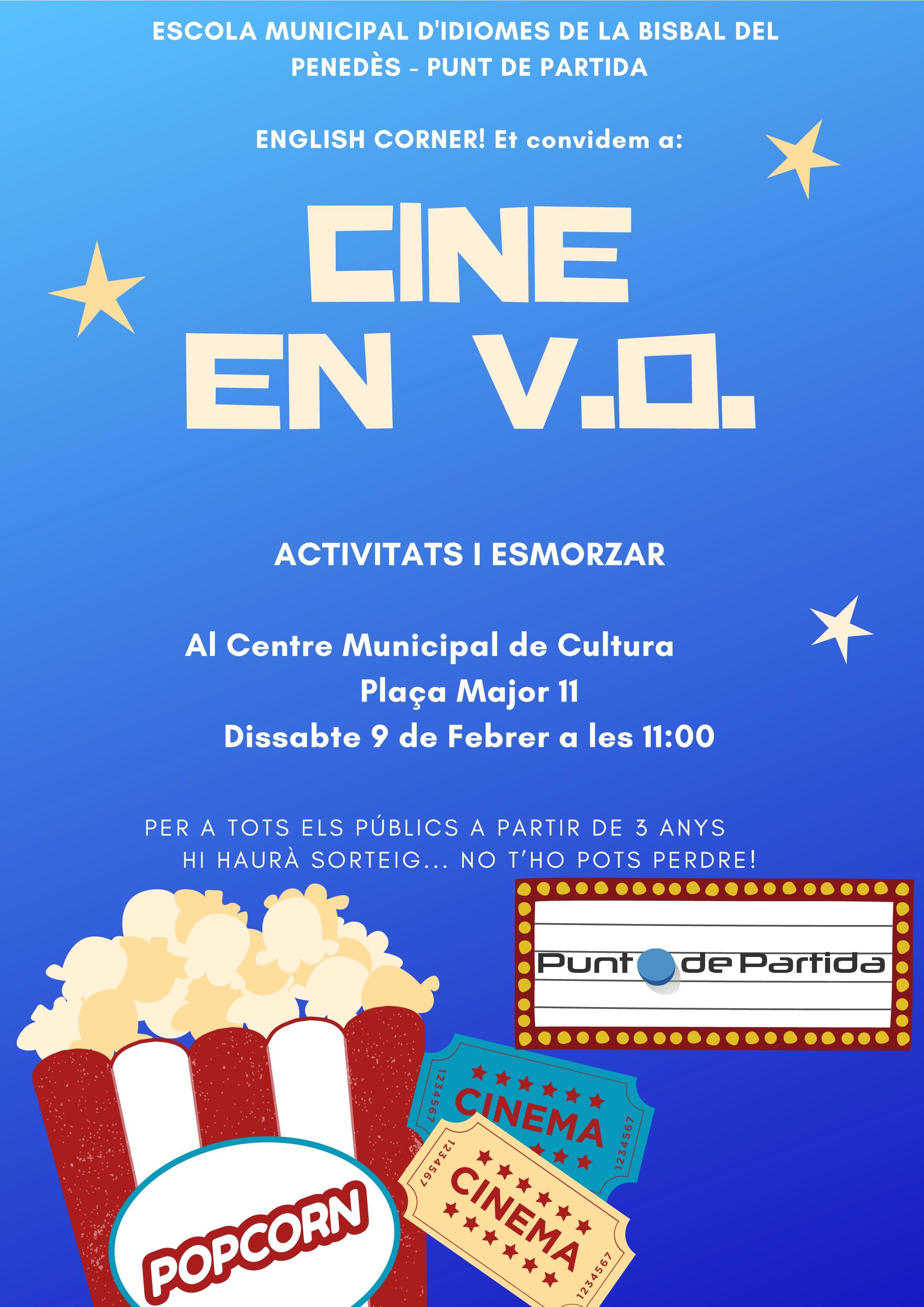 El dissabte 9 de febrer a les 11h hi haurà cinema en versió original al CMC