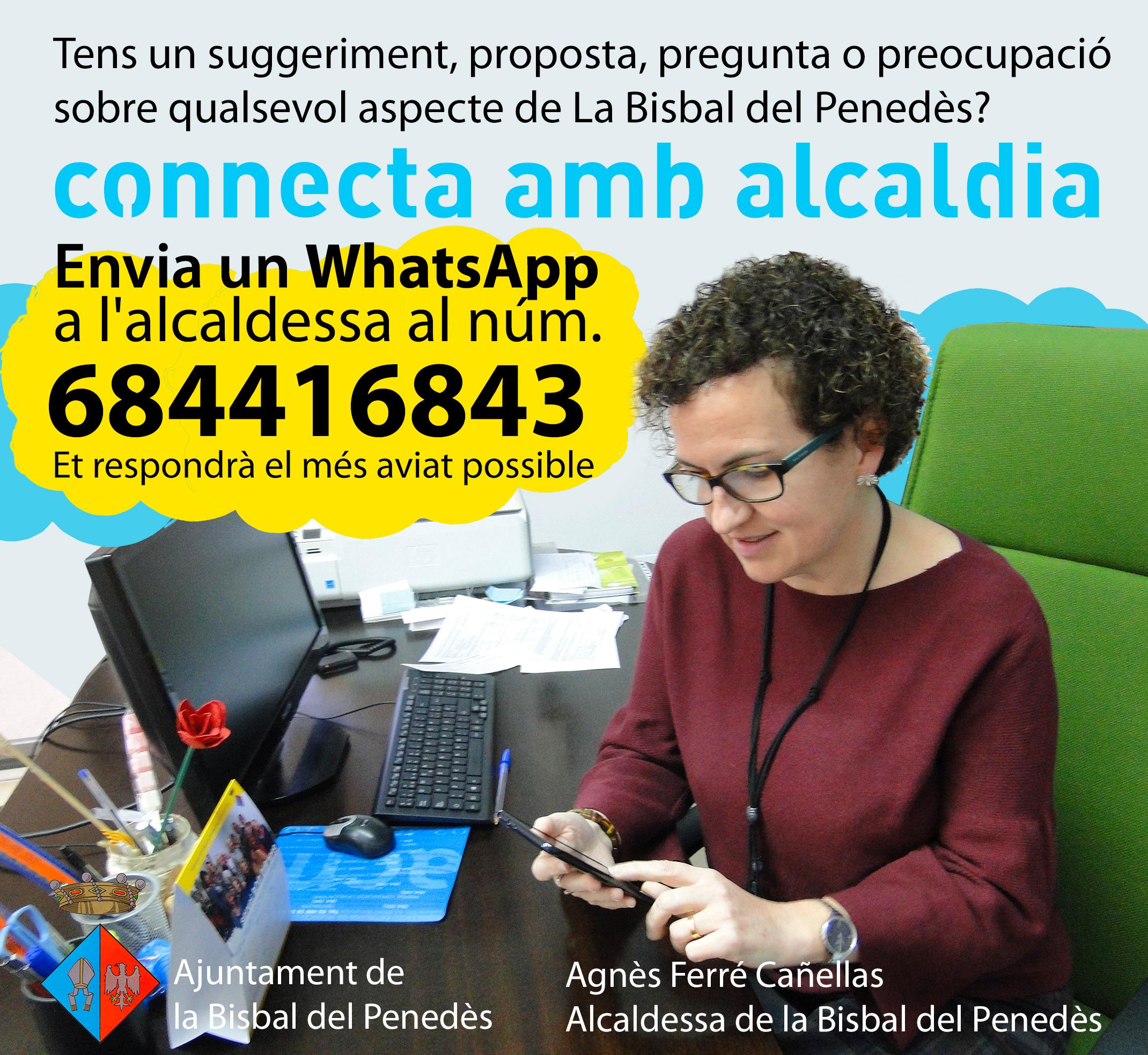 L'alcaldessa Agnès Ferré obre el seu WhatsApp als veïns del municipi