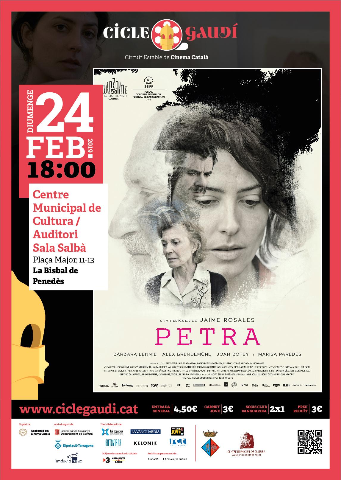 El diumenge 24 de febrer 18h podreu veure 'Petra' al CMC en el marc del Cicle Gaudí
