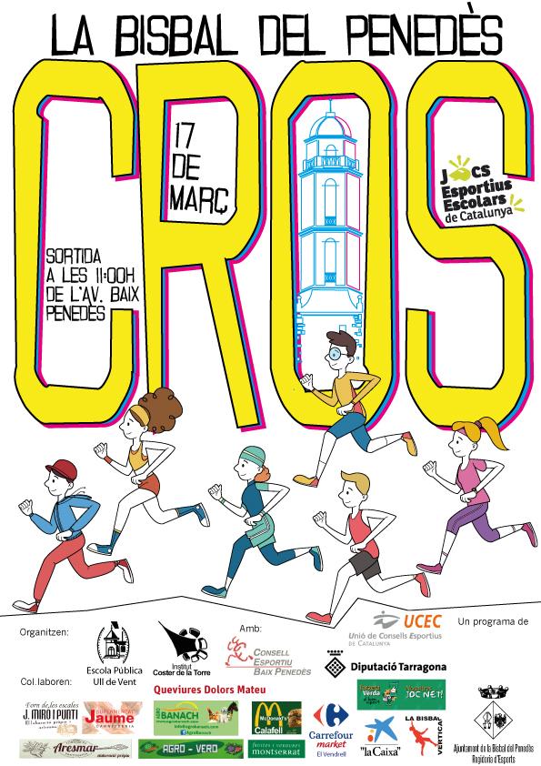 El diumenge 17 de març a les 11h tindrà lloc el cros comarcal de la Bisbal del Penedès