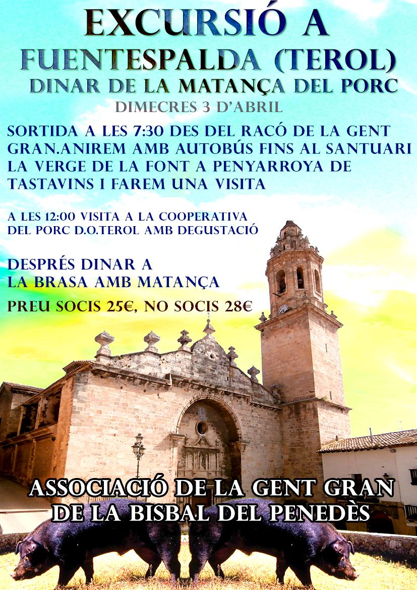 L'Associació de Jubilats organitza una excursió a Fuentespalda per al dimecres 3 d'abril