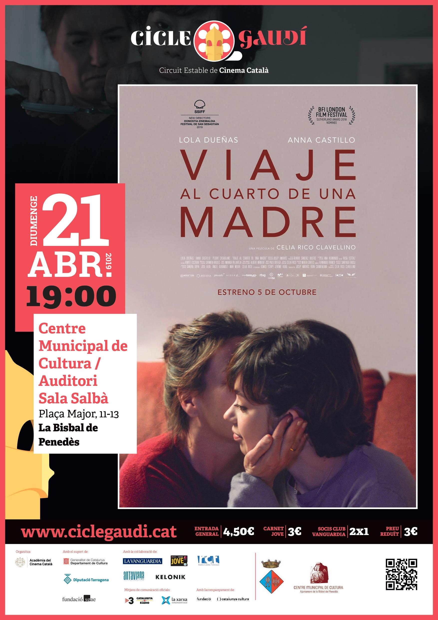 Aquest mes podreu veure la pel·lícula 'Viaje al cuarto de una madre' a la Bisbal