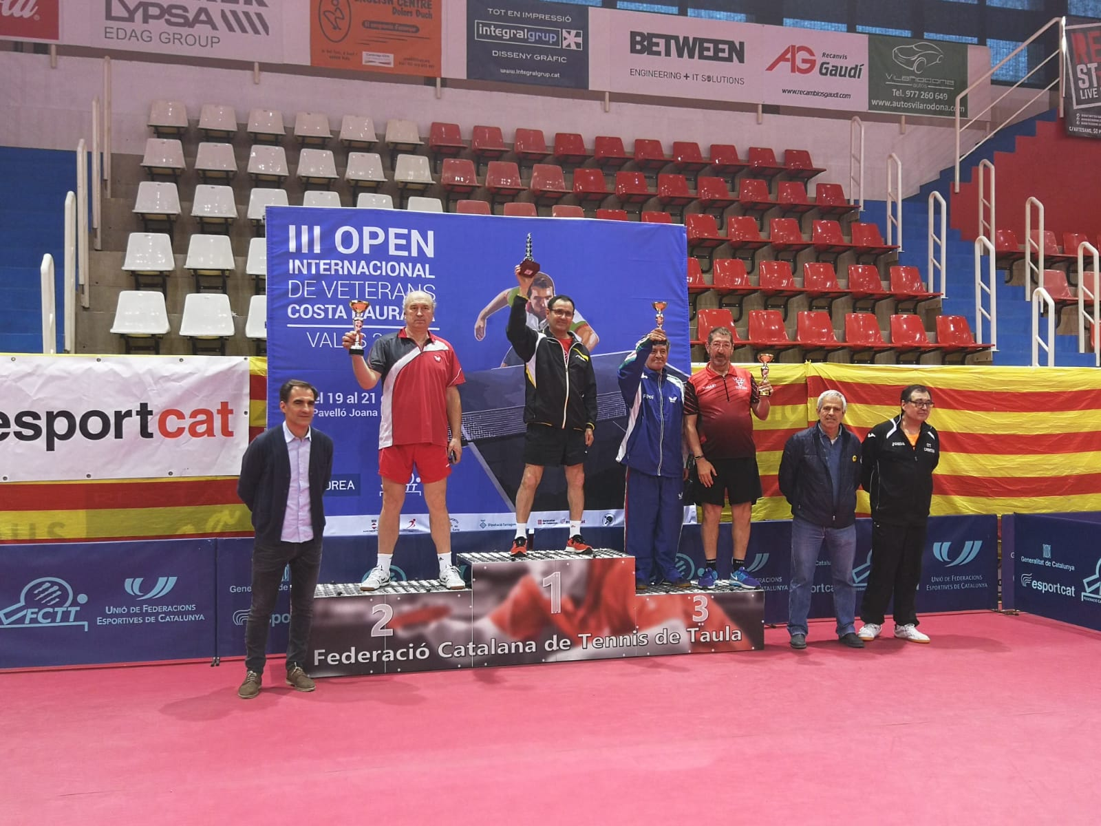 El bisbalenc Josep Martínez guanya el III Open Internacional de Veterans Costa Daurada de tennis taula