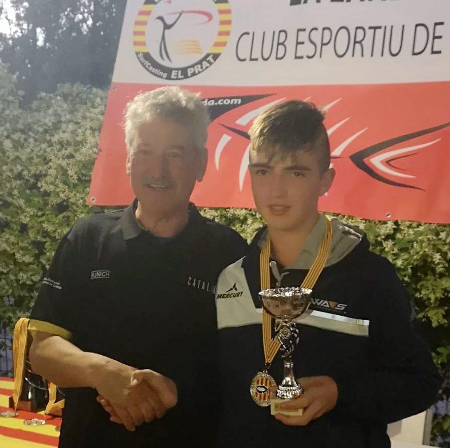El bisbalenc Aitor Pedrola es proclama subcampió infantil de pesca de Catalunya per segon any consecutiu