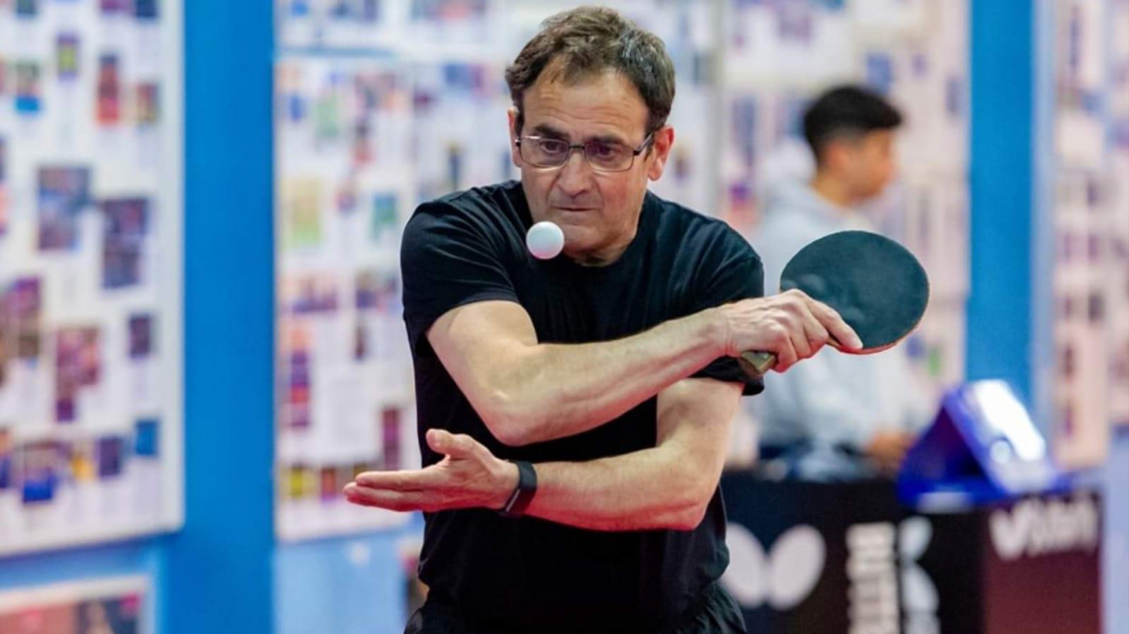 El bisbalenc Josep Martínez es proclama campió de Catalunya en la categoria de veterans +60 de tennis taula