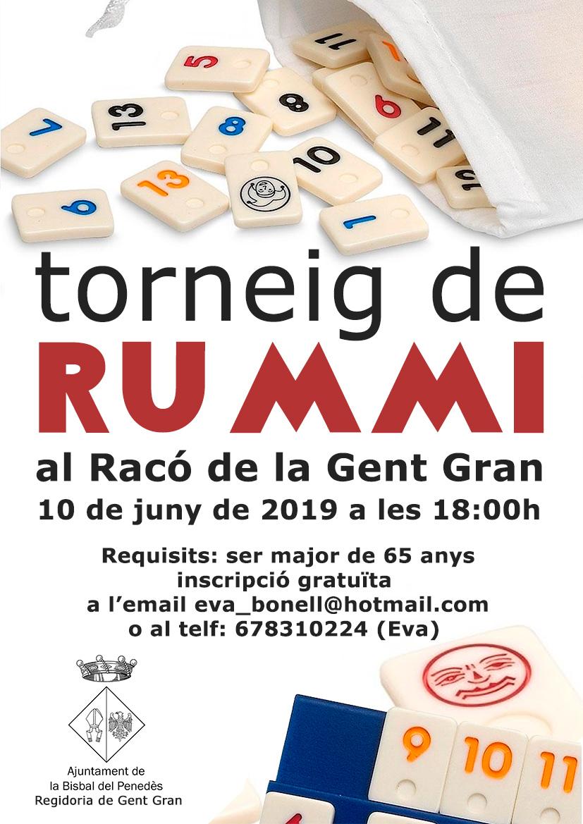 El dilluns 10 de juny se celebrarà un torneig de Rummi al Racó de la Gent Gran