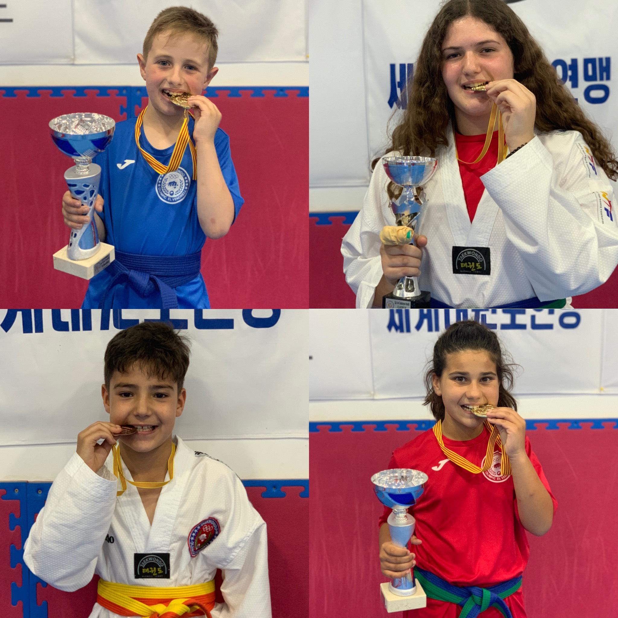 Quatre taekwondistes bisbalencs esdevenen campions de Catalunya
