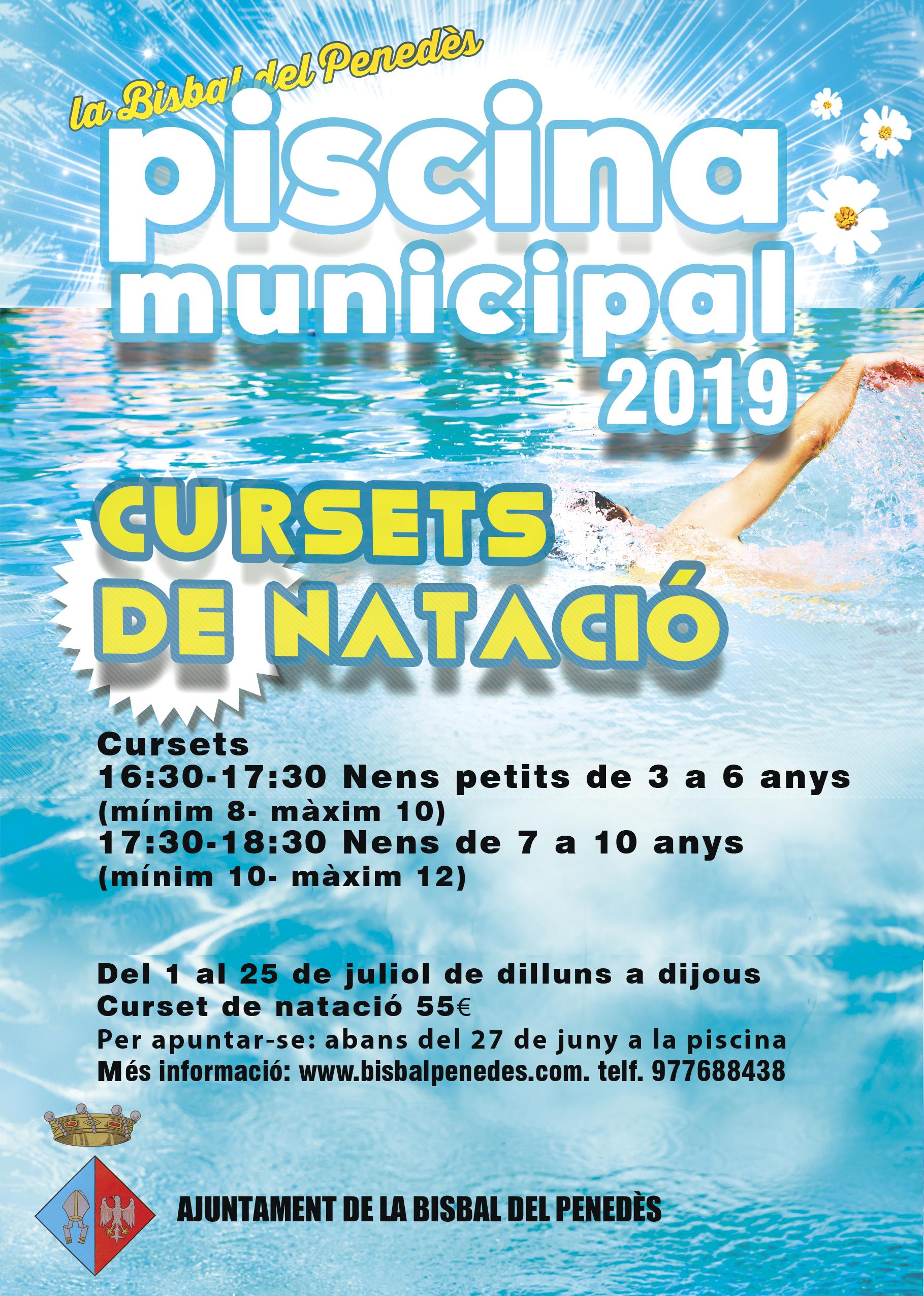 Aquest dijous 27 de juny és l'últim dia per fer les inscripcions per als cursets de natació