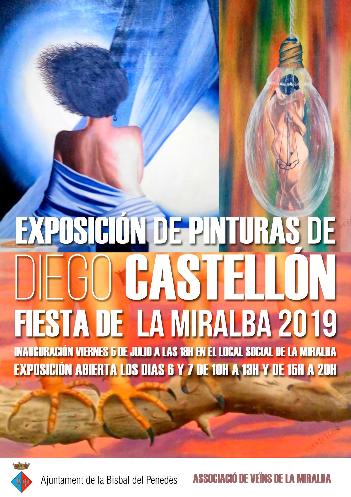 El bisbalenc Diego Castellón exposarà la seva obra del 5 al 7 de juliol al local social de la Miralba