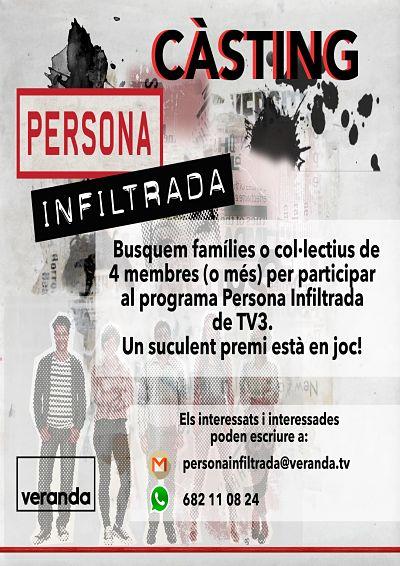 Famílies bisbalenques, us agradaria participar en el programa 'Persona Infiltrada' de TV3?