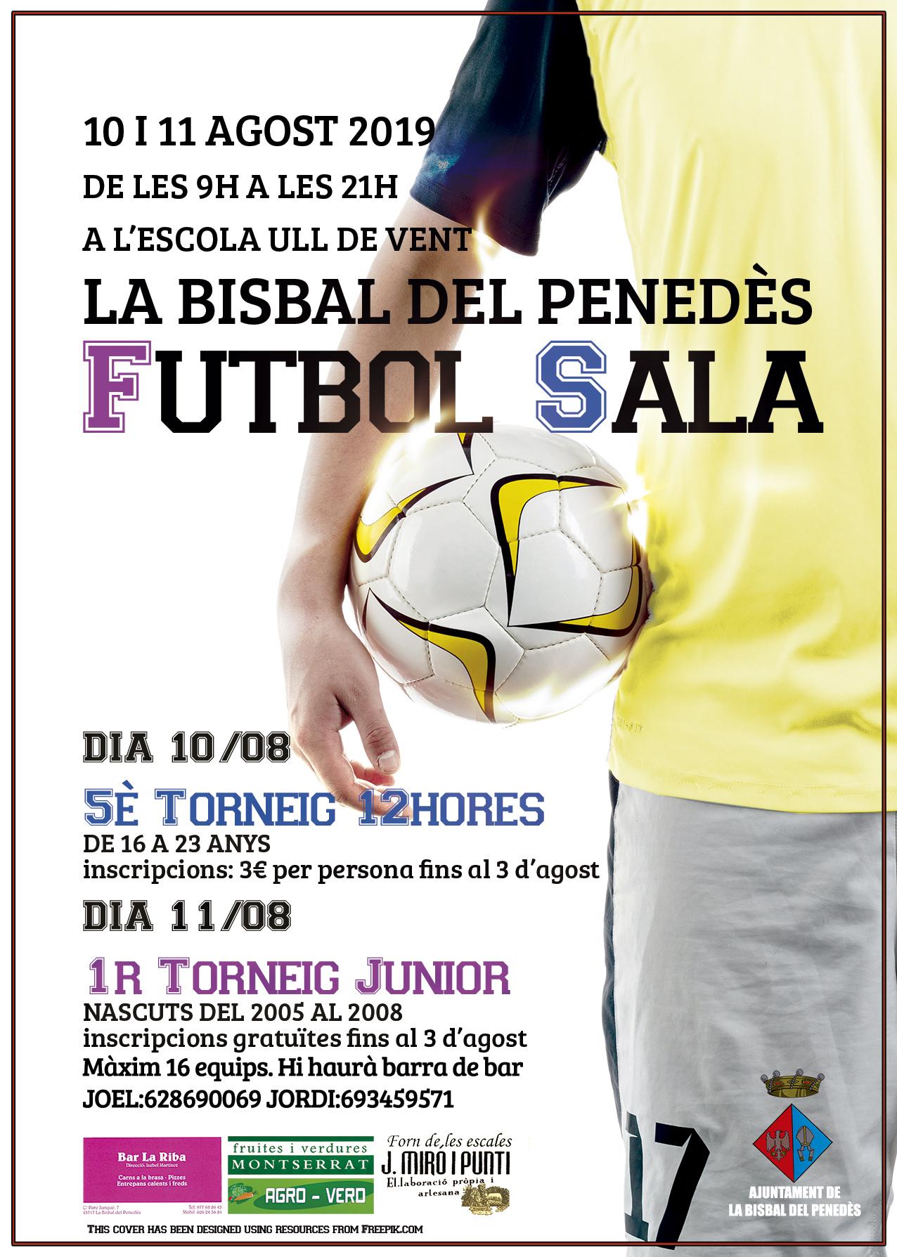 Les inscripcions per als tornejos de futbol sala de la Festa Major romandran obertes fins al 3 d'agost