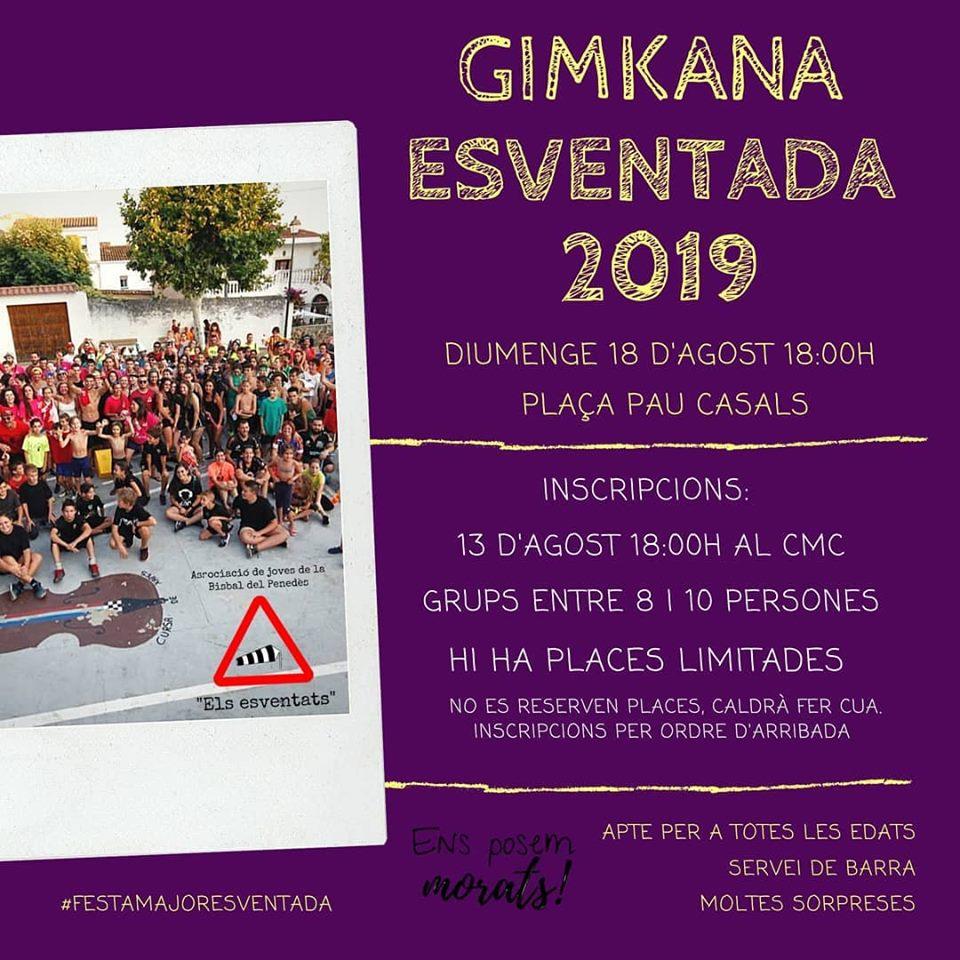 Les inscripcions per a la Gimkana Esventada es podran fer el dimarts 13 d'agost a les 18h al CMC