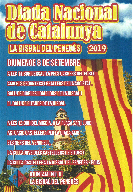 El diumenge 8 de setembre celebrarem la Diada de Catalunya amb una cercavila i una diada castellera