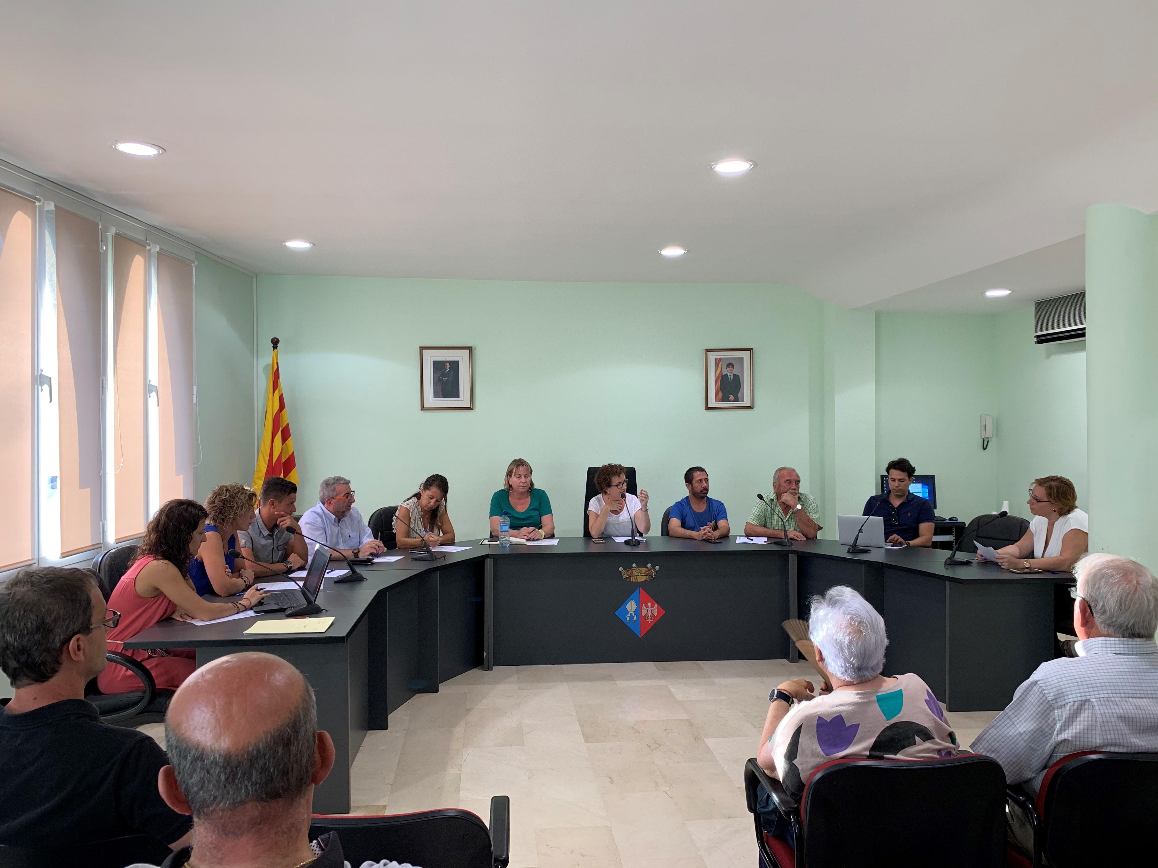 Aquest dilluns 12 d'agost ha tingut lloc un Ple Extraordinari a l'Ajuntament de la Bisbal del Penedès
