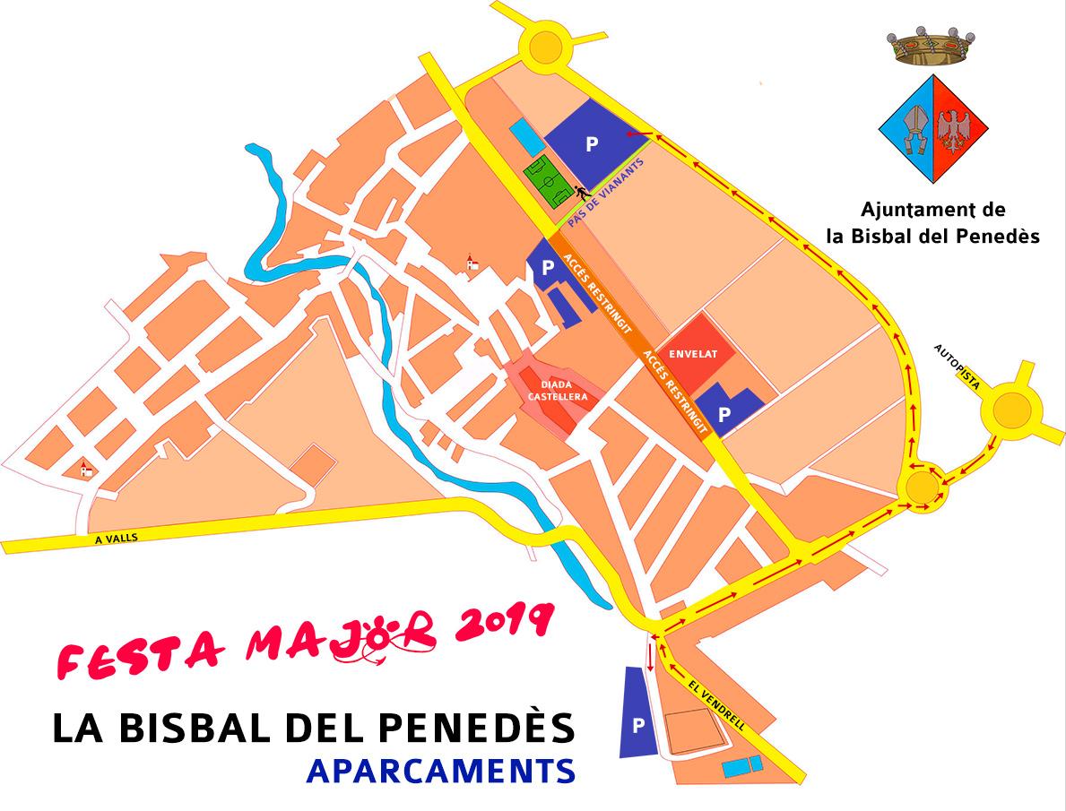 Zones d'aparcament habilitades durant la Festa Major
