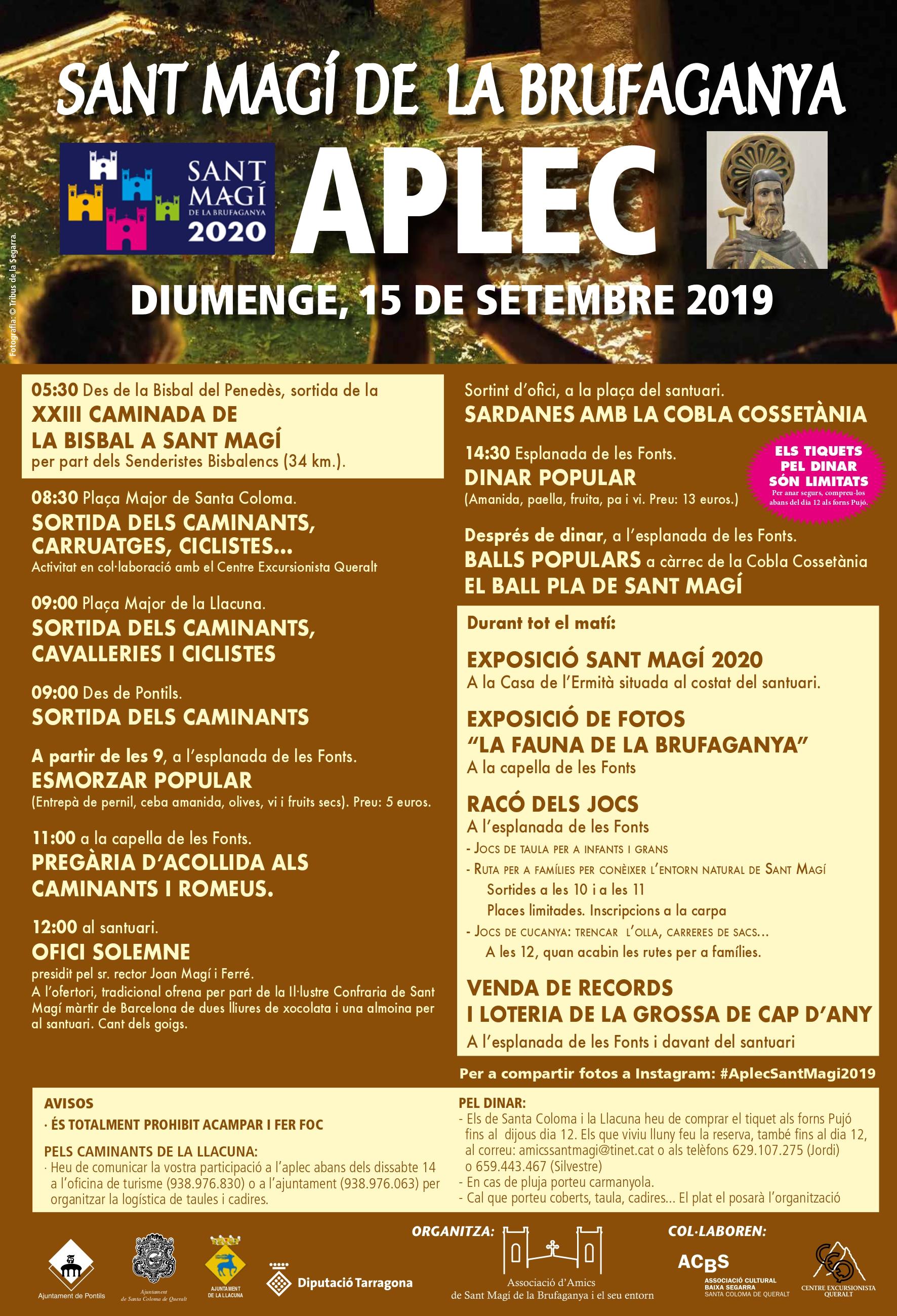 Senderistes Bisbalencs farà la 23ª sortida La Bisbal del Penedès -Sant  Magí de la Bufaganya el diumenge