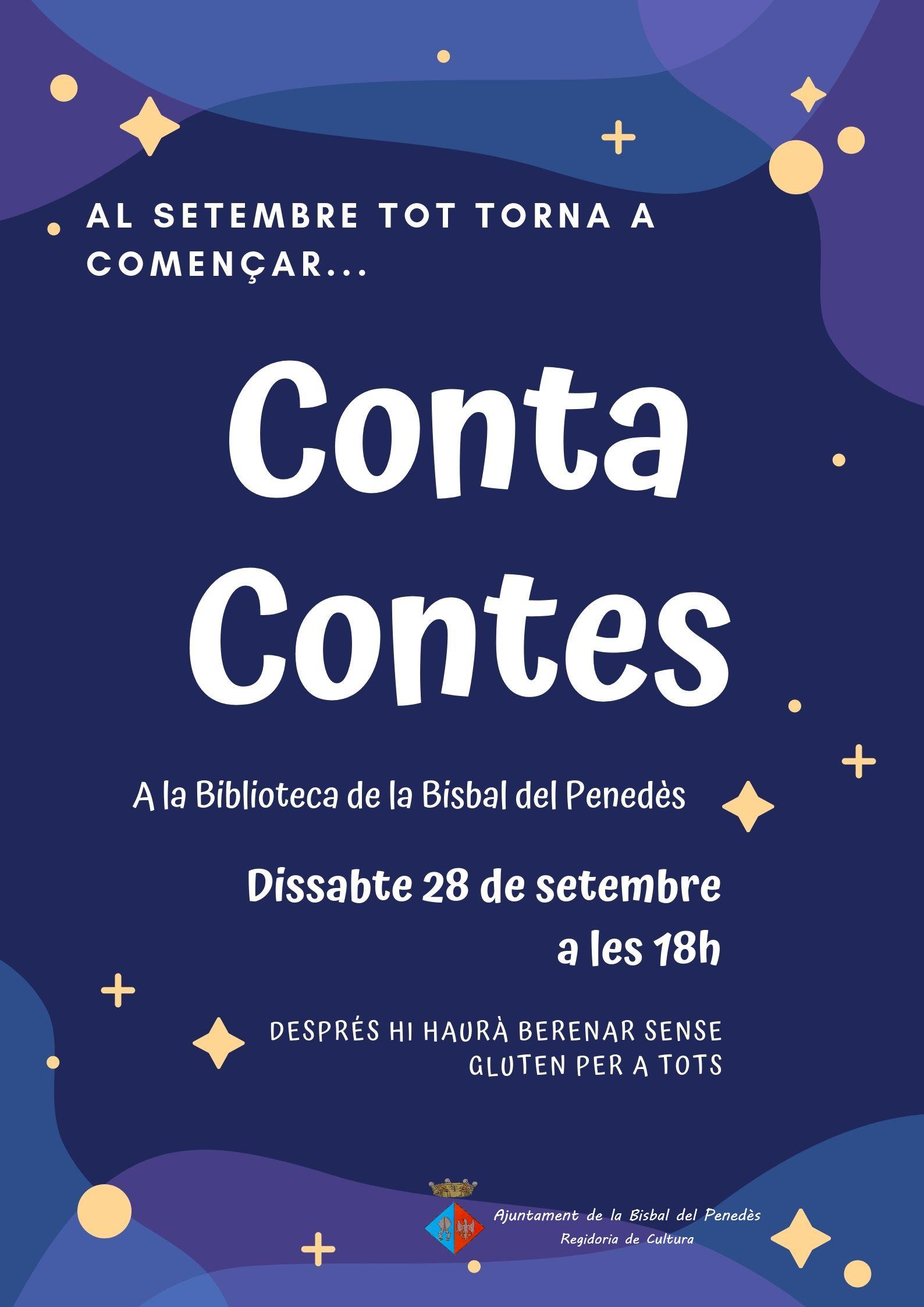 El dissabte 28 de setembre a les 18h tindrà lloc el contacontes de la Biblioteca pública