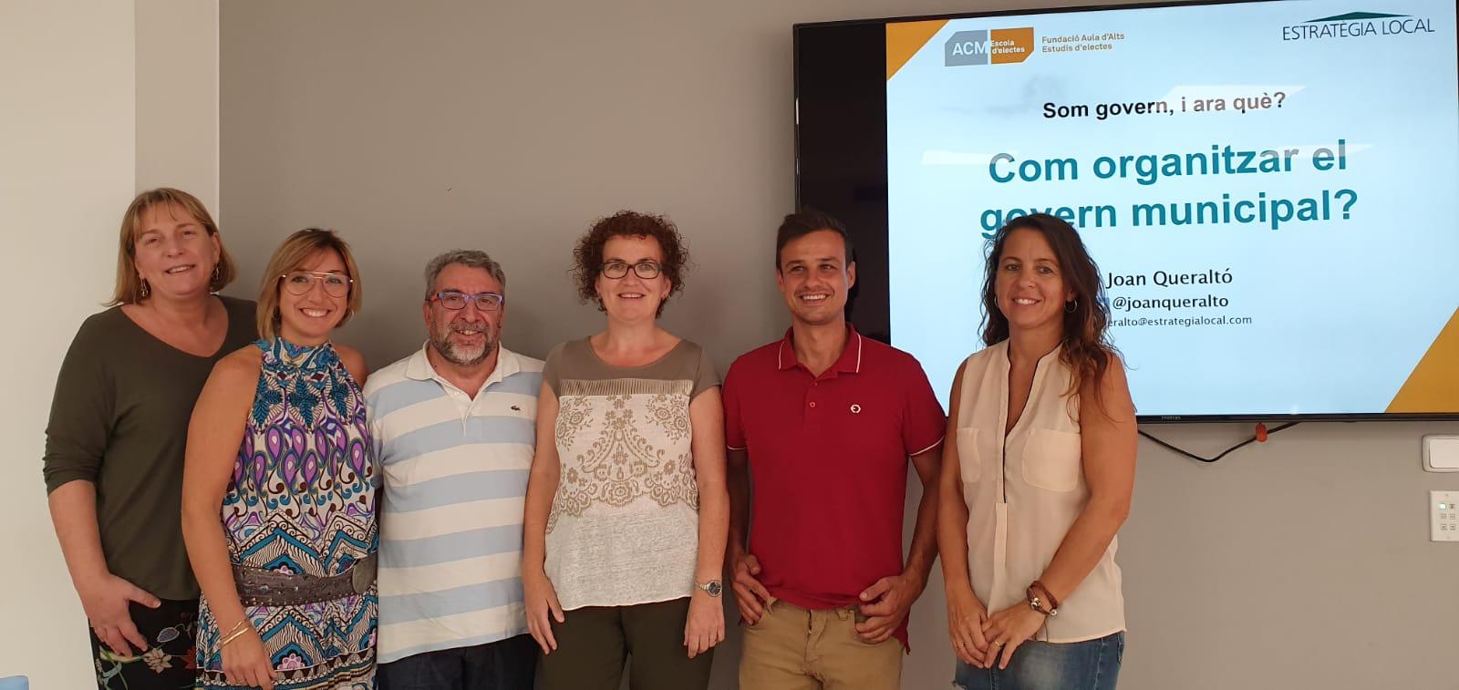 L'equip de govern ha assistit a la formació per a governs municipals organitzada per l'Associació Catalana de Municipis