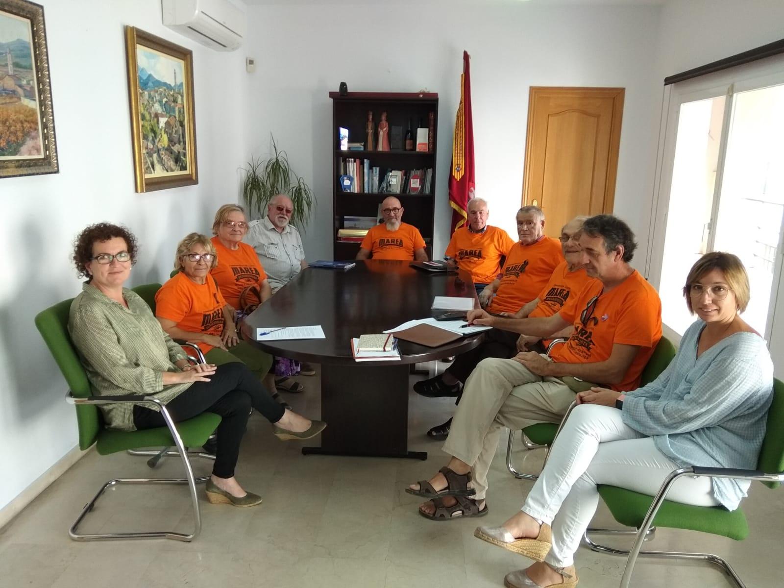 L'alcaldessa i la regidora de la Gent Gran s'han reunit amb la Plataforma Marea Pensionista del Baix Penedès aquest dilluns