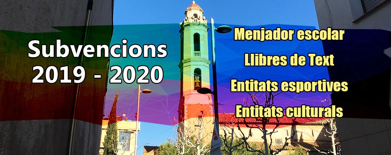 Subvencions 2019-20