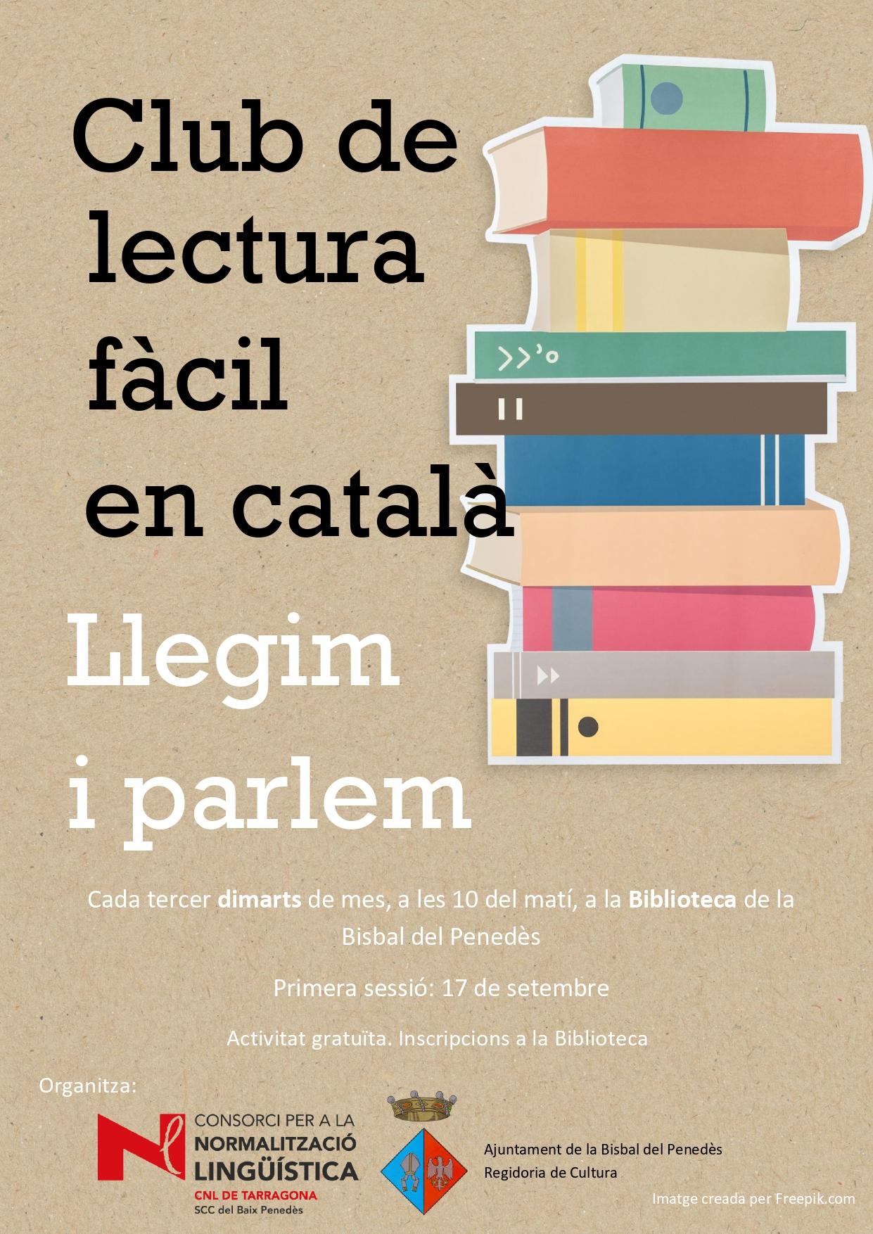 El dimarts 17 de setembre comença un nou curs del Club de lectura Fàcil en Català de la Biblioteca