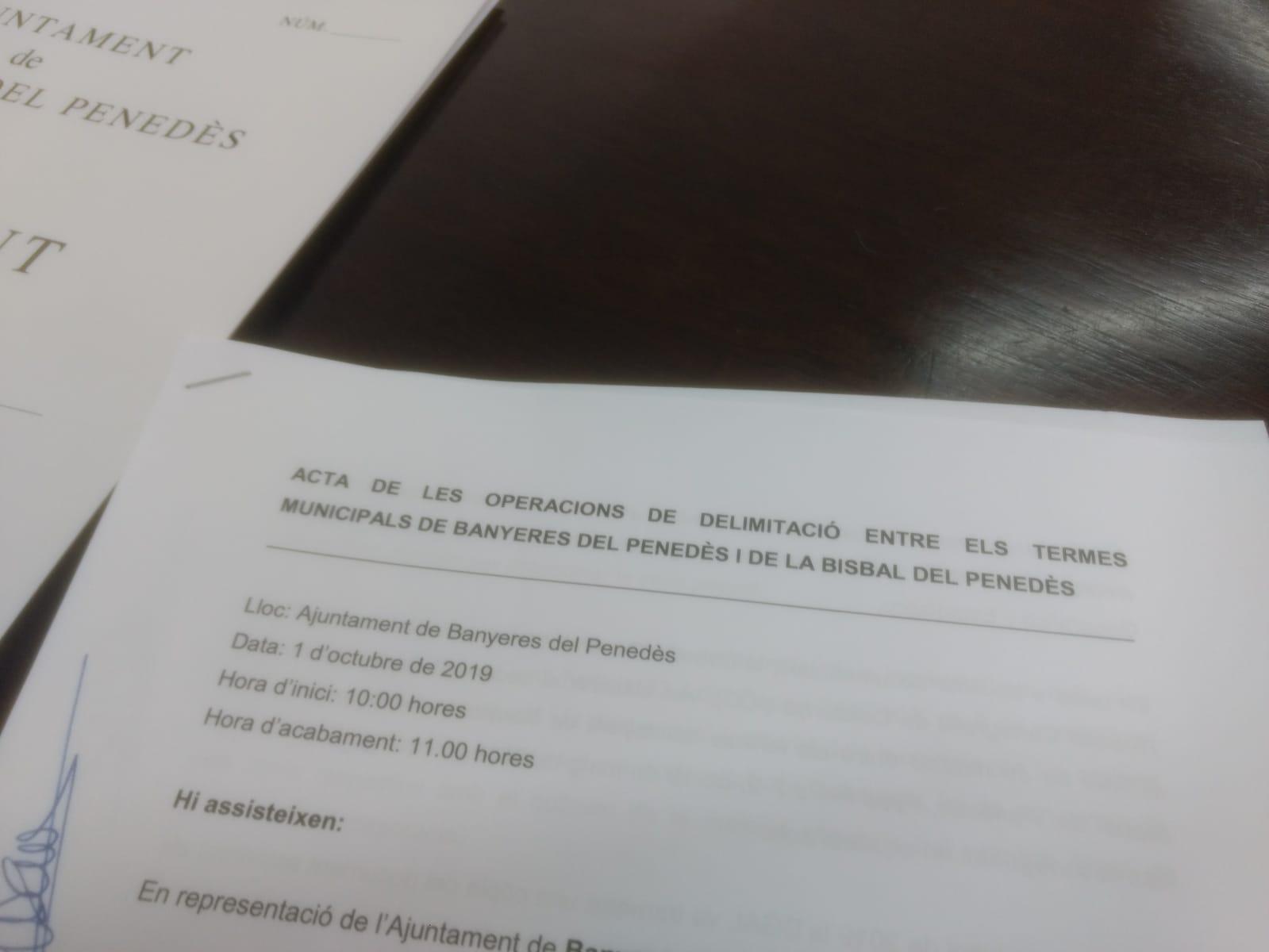Aquest dimarts ha tingut lloc la Comissió de Delimitació dels termes de Banyeres i la Bisbal