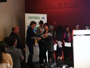 L'alcaldessa Agnès Ferré rebent el reconeixement