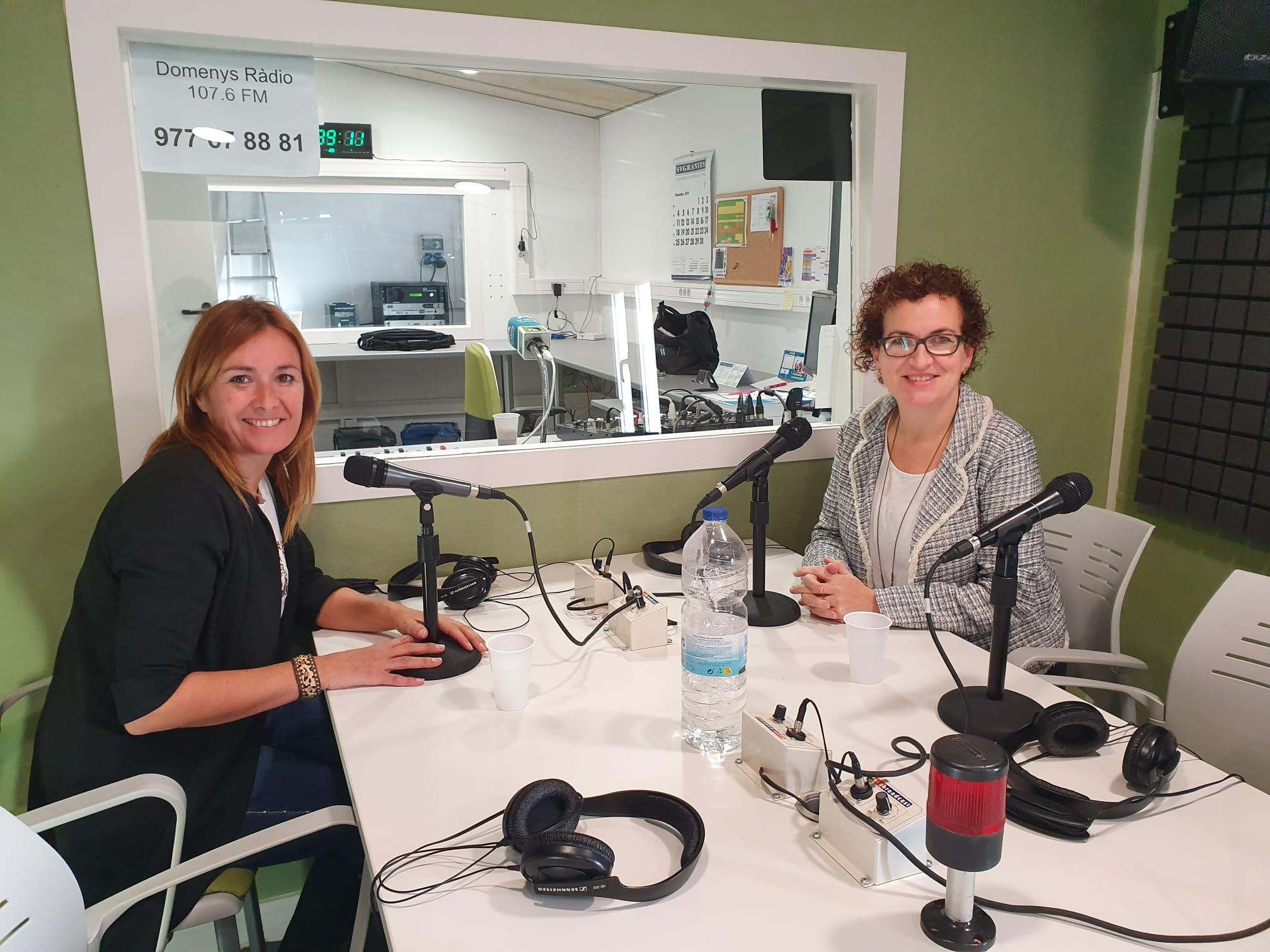 L'alcaldessa Agnès Ferré va participar en la tertúlia del programa 'Penedès en Xarxa' el passat dimarts 26 de novembre