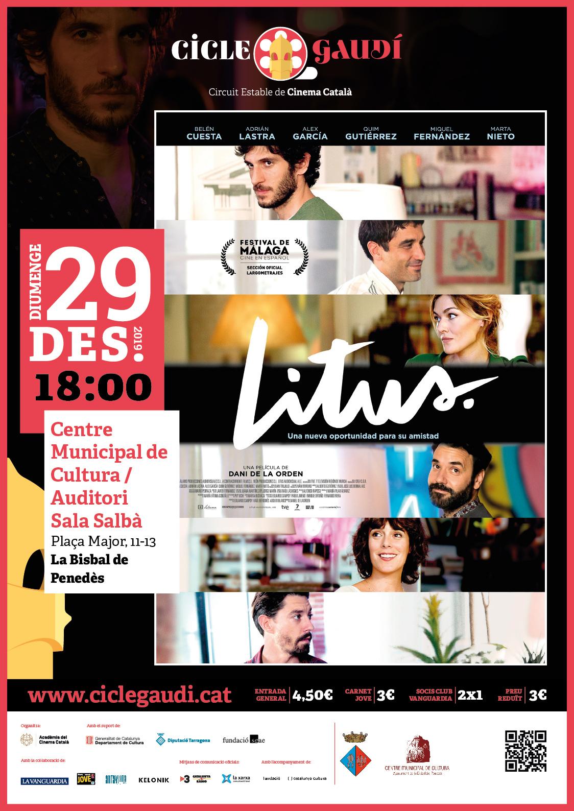 El diumenge 29 de desembre podreu veure la pel·lícula 'Litus' al CMC